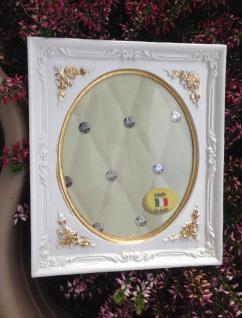 Bilderrahmen Weiß Gold Barock 13x12 Fotorahmen Antik Rahmen Jugendstil Deko - Vorschau 2