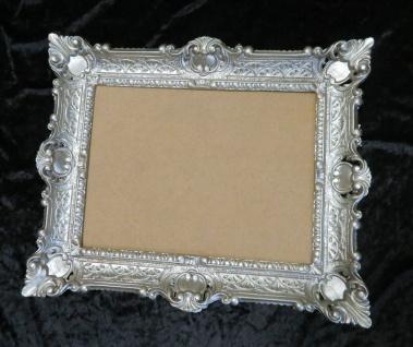 Bilderrahmen rechteckig Antik Silber Barock 56x46 Fotrahmen Bildfläche 30x40cm