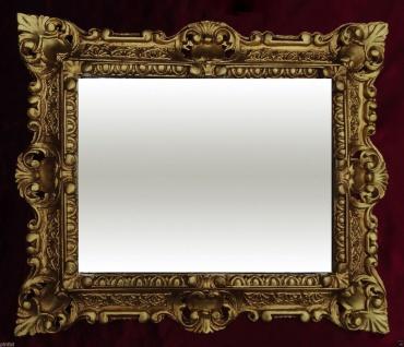 Bilderrahmen Antik Gold Rechteckig 45x37 Fotorahmen Gemälderahmen mit GLAS