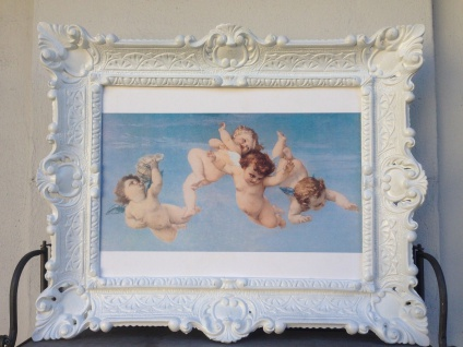 Heilige Engelbild Engel 56x46 Heilige Kunstdruck Bild Wandbild Engelsbaby