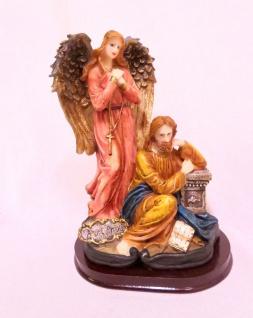 Christliche Heiligenfigur Krippenfigur 21cm Jesus Christus mit Schutzengel Groß