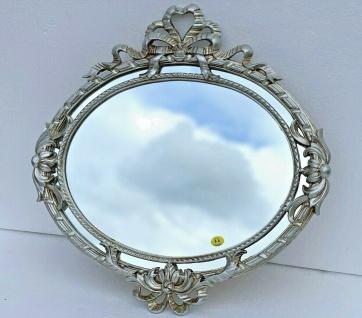 Wandspiegel Rund Antik Silber Barock Jugendstil 52x50 Badspiegel Flurspiegel