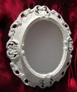 Wandspiegel Spiegel BAROCK Antik WEIß 45x38 Oval Badspiegel Bilderrahmen 103045
