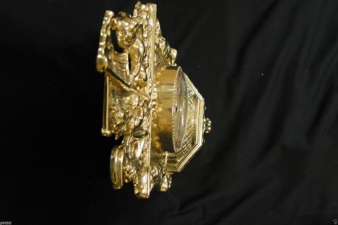 Kaminuhr Messing Tischuhr Antik Barock Gold 42cm Massiv Neu - Vorschau 3