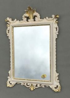 Wandspiegel Barock Antik Weiß-Gold 36x24 Badspiegel Modern Flurspiegel C12M