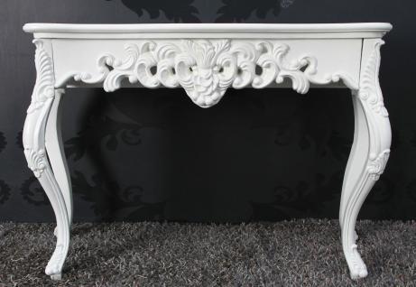 Wandkonsole Weiß Sideboard Barock Antik Konsole XL Wandtisch Wandkommode Neu