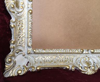 Bilderrahmen Weiß-Gold mit glas 56x46 Gemälde rahmen Antik /Fotorahmen 30x40 - Vorschau 3