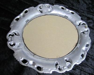 Wandspiegel Oval Antik Spiegel Schwarz Silber Barock Badspiegel 45x38 Oval 1 - Vorschau 3