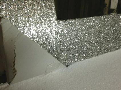 Wandspiegel Silber Glitzer Modern Flurspiegel Friseurspiegel 60x90 Mirror - Vorschau 4