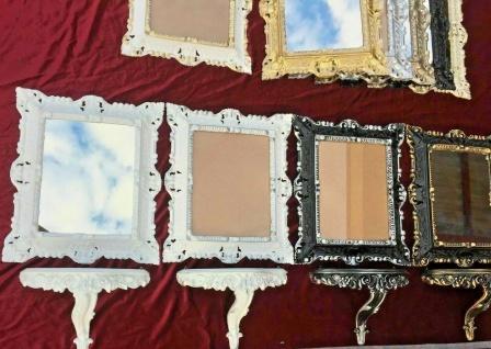 Wandspiegel mit Konsole Gold Barock Wanddeko Wandablage 31x21 Regale Deko neu