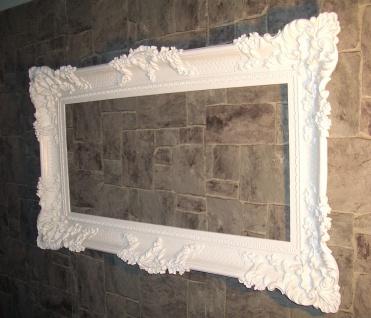Bilderrahmen Barock Weiss Rokoko Gemälde Rahmen 97x57 Prunkrahmen Fotorahmen