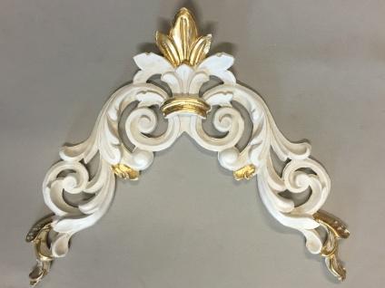 Wanddeko Wandbehang Deko 28cm Altweiß-Gold Spiegel Deko C1536 Ivory Möbeldeko - Vorschau 2