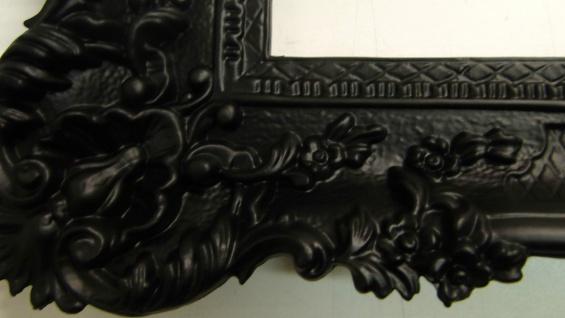 Bilderrahmen xxl BAROCK SCHWARZ MATT 97X57 Rechteckig Antik Wanddeko 3074