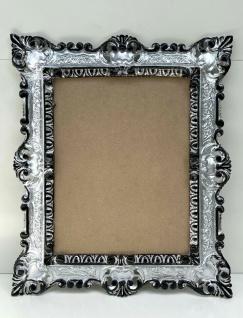 Bilderrahmen Antik Rechteck 45x37 Fotorahmen 24x30 Gemälderahmen Silber Schwarz