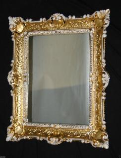 Wandspiegel Gold Weiß Antik Spiegel Barock 57x47 Bad Spiegel Rechteckig '49 - Vorschau 3