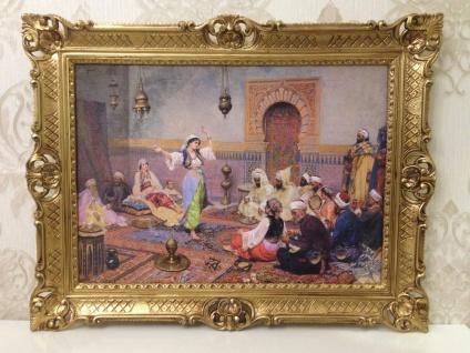 orientalisches Bild Gemälde Orientalische Bauchtänzerin 90x70 Wandbild Harem
