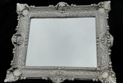 Wandspiegel Barock Spiegel Antik Silber WANDDEKO Badspiegel 46x56 Innen:30x40