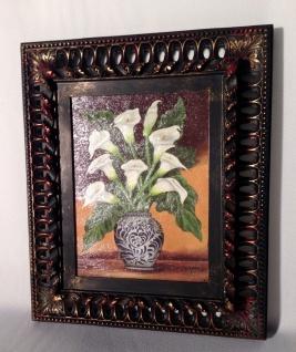 Blumen Gerahmte Gemälde 30x36 ÖlBild Calla Blumen Prunkrahmen mit Bild