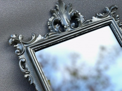 Wandspiegel Barock Gold Silber Schwarz Weiß 36x24 Antik Prunk Spiegel Shabby C12