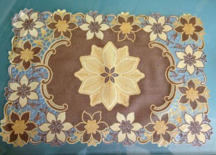 4 x Platzdeckchen 30x45cm Gold Grün Braun PVC Tischdecke Tischset Abwaschbar