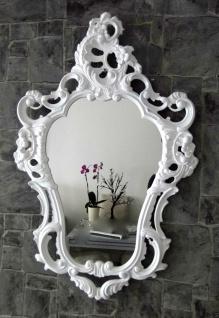 Wandspiegel Weiß Barock Oval Hochglanz Jugendstill Badspiegel 50X76 Antik