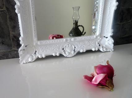 Wandspiegel WEIß Barock Shabby, Jugendstil 57x47 Antik Badspiegel Flurspiegel
