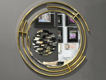 Wandspiegel Rund Gold Edelstahl 90 x 90cm Modern Spiegel Runde Edelstahl Spiegel