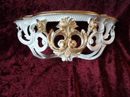 Wandkonsole Spiegel Konsole Antik Barock Stil Rokoko 40x17x17 Wandregal CP74