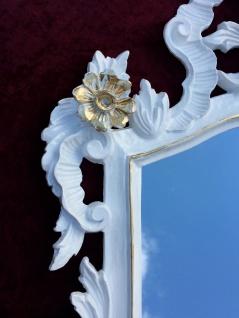 Wandspiegel Barock Weiß gold Spiegel Antik Badspiegel Barspiegel 83x43 Oval C1G - Vorschau 3