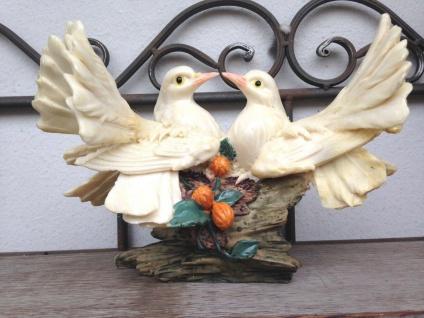 Restposten Brieftauben Paar Figuren 24cm Weiße Tauben Vogel Statue Sonderposten - Vorschau 3