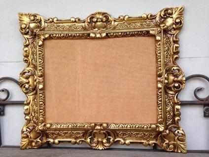 Bilderrahmen+Glas Antik Gold Rechteckig 45x37 Foto Spiegelrahmen Gemälderahmen