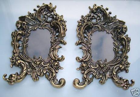 Antiker-Jugendstil-Bilderrahmen-in Messing-Look Antik gold Bilderrahmen Metall