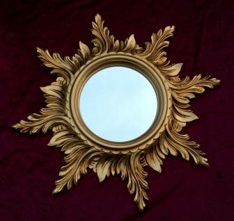 Wandspiegel Barock Gold SPIEGEL SONNE 50cm Massiv Badspiegel Sun Mirror C495