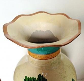 Bodenvase Ölpainting look mit Weintrauben Obst 46cm Deko Vase Keramik Handbemalt - Vorschau 4