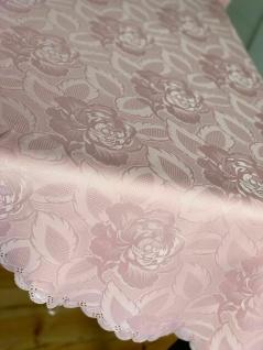Tischdecke Stoff Oval Rechteckig Rund Damast Tischwäsche Bügelfrei Angebot weiß