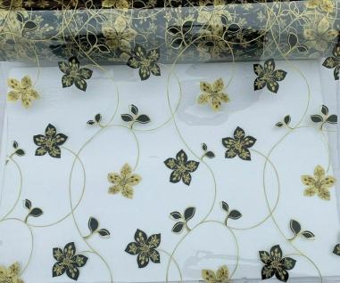 Tischschutz Folie 2mm Tischdecke Transparent SILBER Meterware 80-100cm Breite