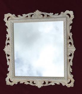 Wandspiegel Barock Antik Weiß 38x36 Barspiegel Beige Bad Spiegel Rahmen - Vorschau 3