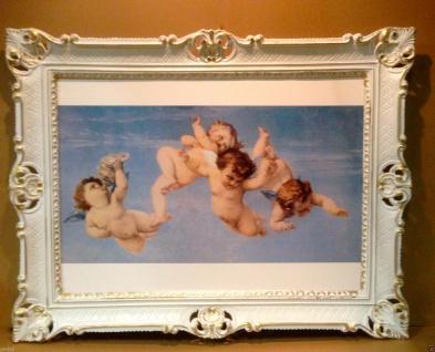 Schutzengel Engels Bild 90x70 Heiligen bIld Christlichen Bild Wandbild Rahmen