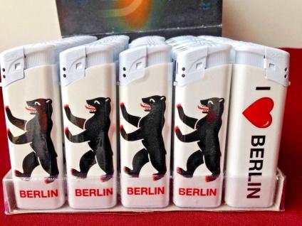 50 x Feuerzeuge Berlin Motiv nachfüllbare lighter wiederauffüllbar Berlinerbär - Vorschau