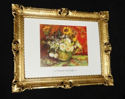 Bild mit Rahmen von Van Gogh VASE MIT Sonnenblumen gerahmt Bild vaso di fiori