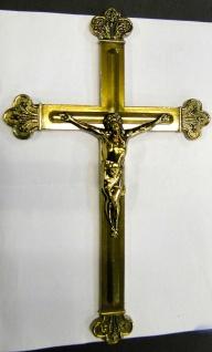 Jesuskreuz Wandkreuz Kruzifix 30cm Jesus Korpus Christus HerGott Messing Kreuz