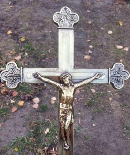 Wandkreuz Kruzifix 30cm Jesus Korpus Christus HerGott Messing Kreuz Deko