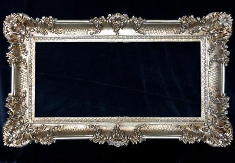 Bilderrahmen Antik Silber Hochzeitsrahmen 97x57 xxl Fotorahmen mit Glasscheibe
