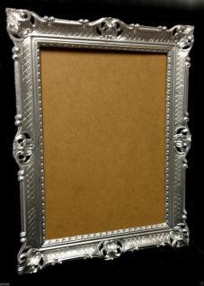 Bilderrahmen Barock Silber Hochzeitsrahmen Antik 90x70 Bilderrahmen groß - Vorschau 3