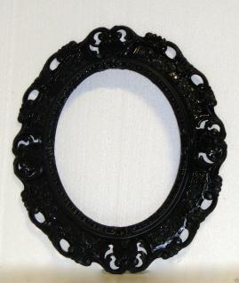 BILDERRAHMEN Schwarz Oval Antik Barock Fotorahmen Rahmen 45X37 SpiegelrahmenNeu