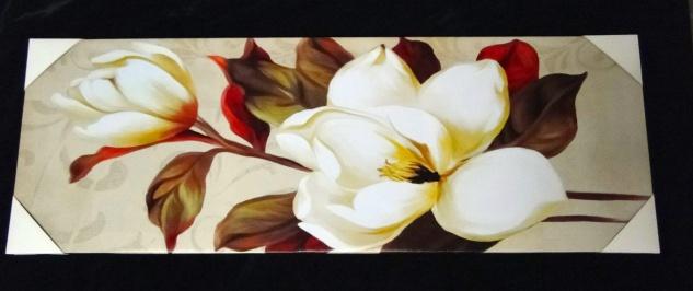 XXLBilder Leinwand Keilrahmen Bild groß Canvas Bilder BLUMEN 40x120 FLOWER - Vorschau 2