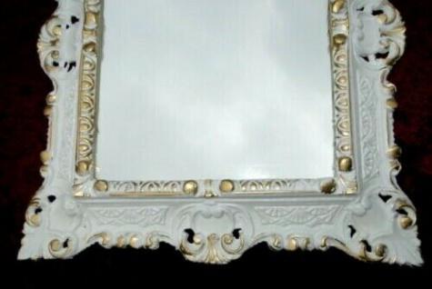 Bilderrahmen Weiß gold Antik 45x37 Foto/Gemälderahmen Barock Vintage Wanddeko