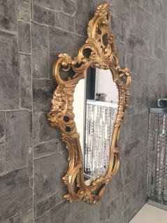 Wandspiegel Oval Gold Barock 50x76 Wanddeko Vintage Deko Spiegel Jugendstil Neu