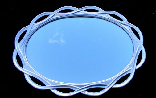 Wandspiegel Spiegel Silber Gross Oval- Badspiegel 120 X 90 020g Flurspiegel - Vorschau 5
