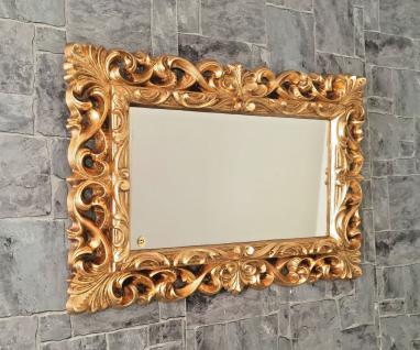 Wandspiegel Gold Barock Modern Flurspiegel Friseurspiegel 72x52 Spiegel Mirror